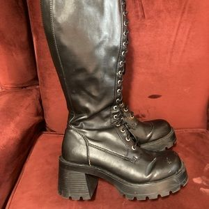 Vintage #y2k Bongo tall chunky combat boots